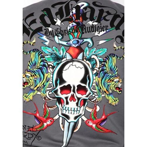 Ed Hardy Skull Dagger Blue Tigers Basic Hoody