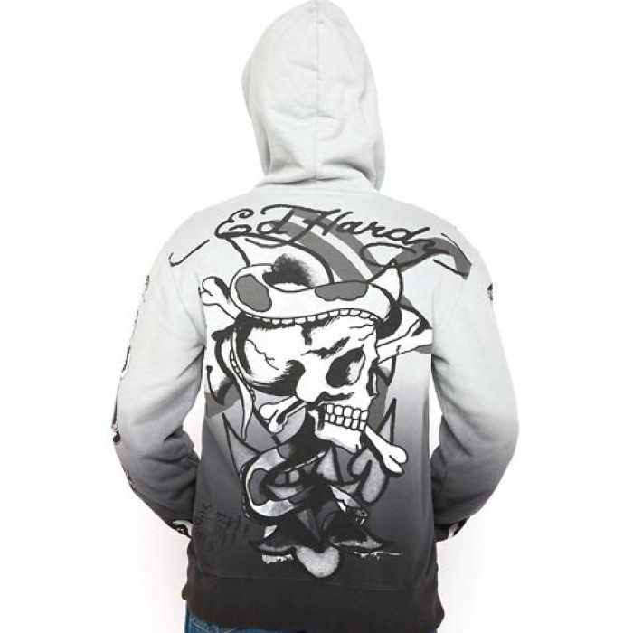 Ed Hardy Eagle Panther Specialty Dip Dye Hoody