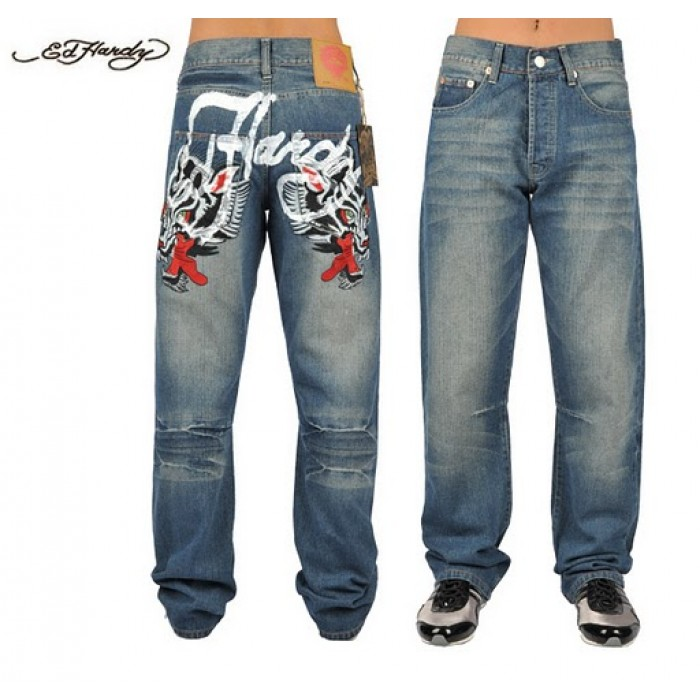 Ed Hardy Mens Jeans 1333 High Quality