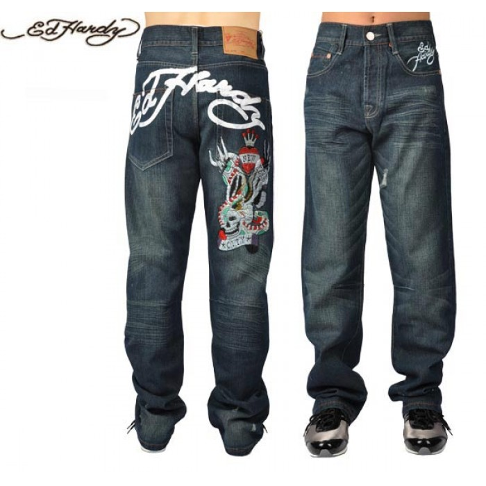 Ed Hardy Mens Jeans 1128 clothing sale