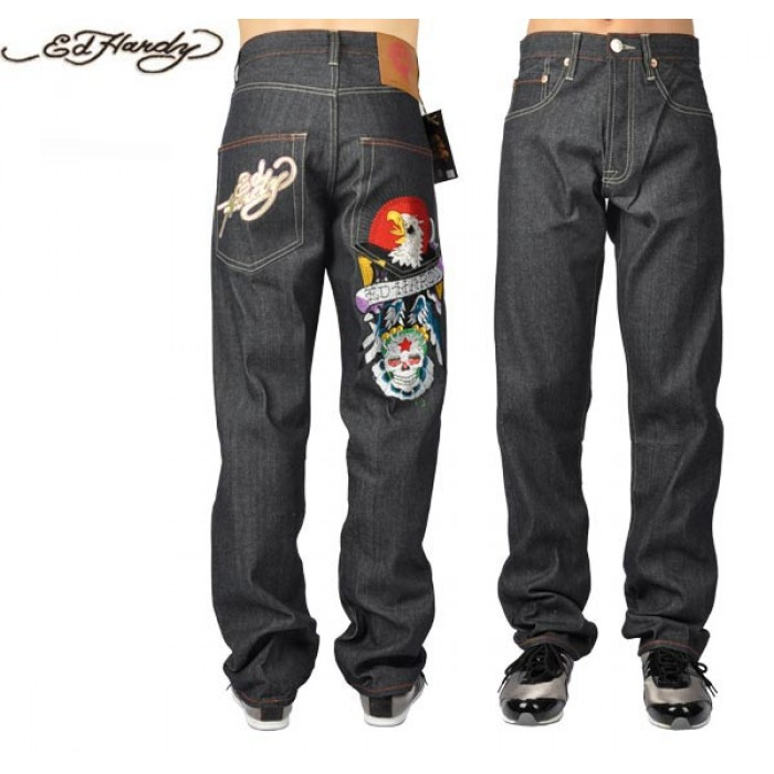 Ed Hardy Mens Jeans 1088 authentic quality