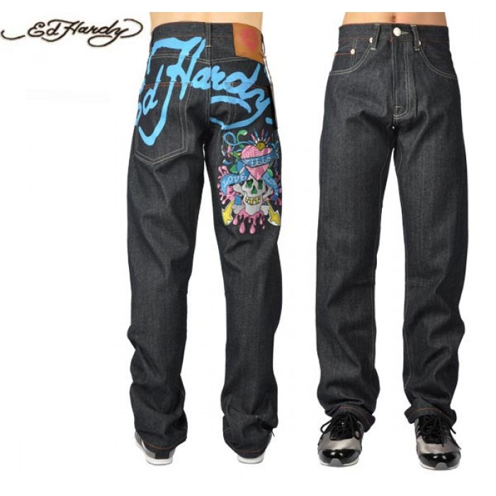 Ed Hardy Mens Jeans 1872 Cheap