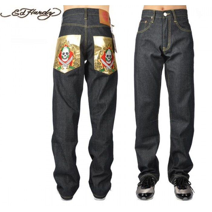 Ed Hardy Mens Jeans 1803 designer fashion