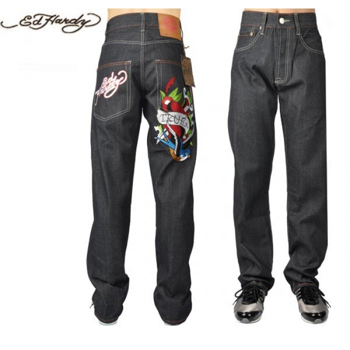 Ed Hardy Mens Jeans 2845 high quality guarantee