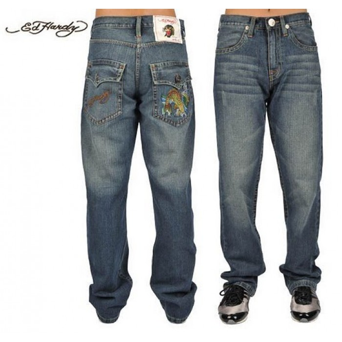 Ed Hardy Mens Jeans 1589 sale Cheap