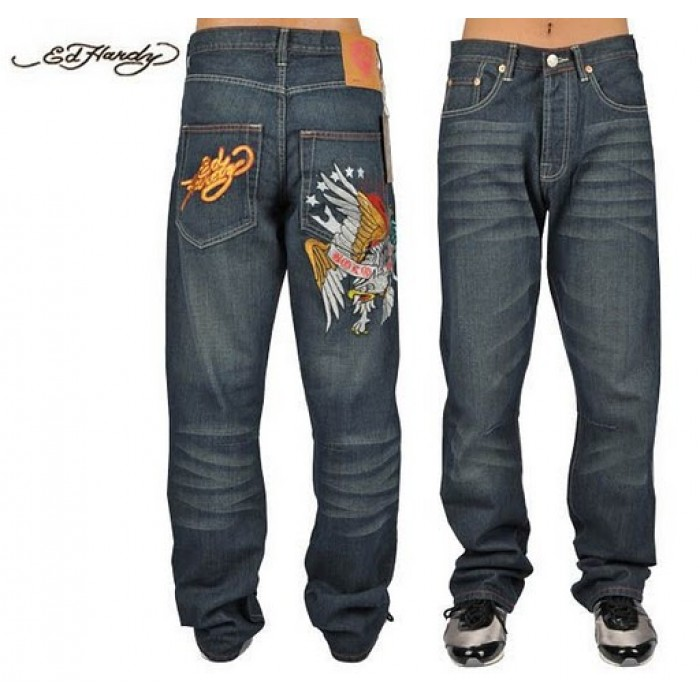 Ed Hardy Mens Jeans 1323 famous brand