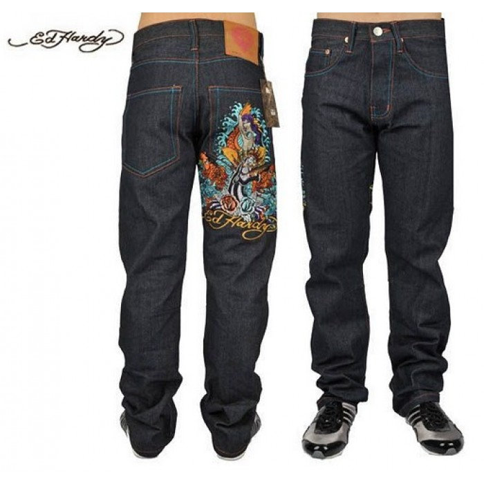 Ed Hardy Mens Jeans 2351 official authorized store