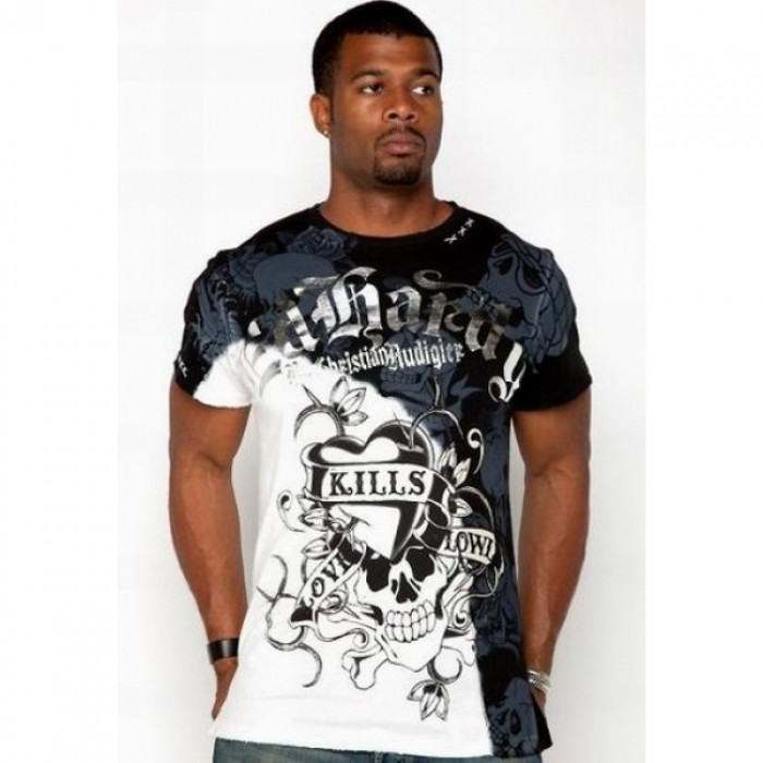 ED Hardy Mens Short Sleeve Tees black white Store