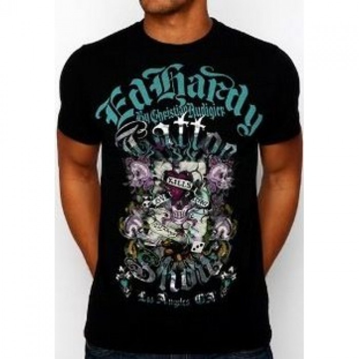 ED Hardy Mens Short Sleeve Tees clothing official