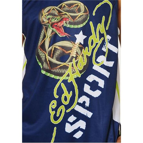 Hot Ed Hardy Mens Rattlesnake Basketball Shooter