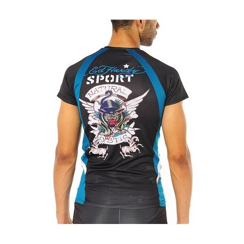 Hot Ed Hardy Mens Prowling Panther Compression Top