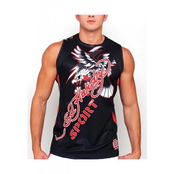 Hot Ed Hardy Mens Eagle Sport Tank