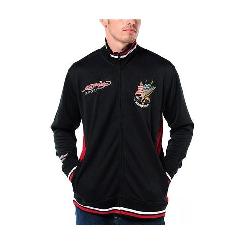 Hot Ed Hardy Mens Born Free Eagle Track Jacket
