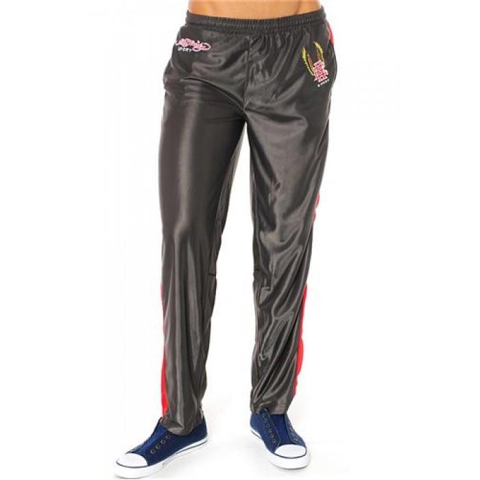 Hot Ed Hardy Mens EH Eagle Basketball Pants Grey