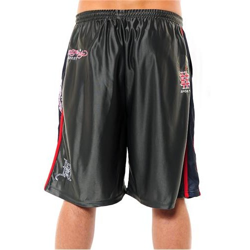 Hot Ed Hardy Mens EH Eagle Training Shorts Grey