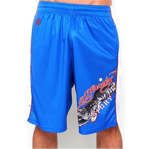 Hot Ed Hardy Mens Tiger Sport Shorts Blue