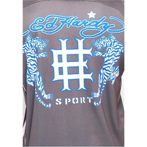 Hot Ed Hardy Mens Tiger Roar Sport Tank Grey