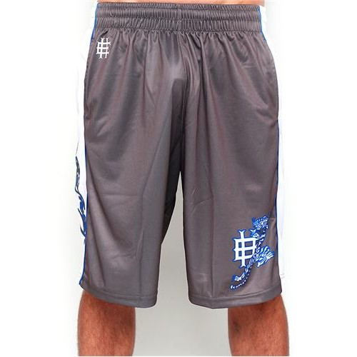 Hot Ed Hardy Mens Tiger Roar Sport Shorts Grey
