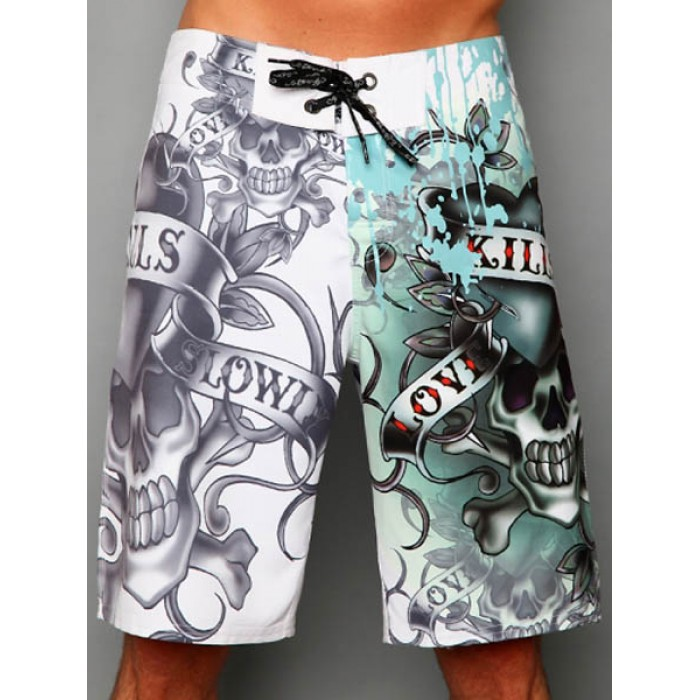 Ed Hardy Mens beach pants white outlet