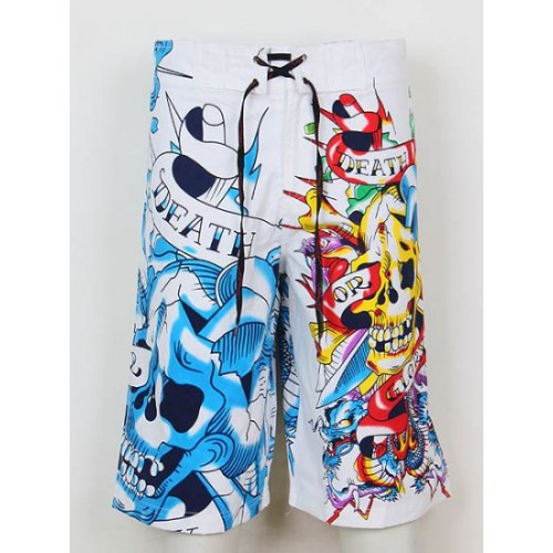 Ed Hardy Mens beach pants white top brands