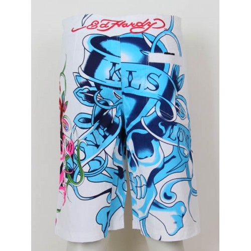 Ed Hardy Mens beach pants White Factory Outlet