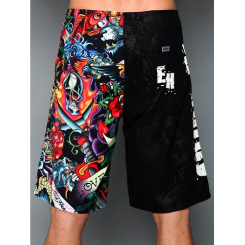 Ed Hardy Mens beach pants black Retailer