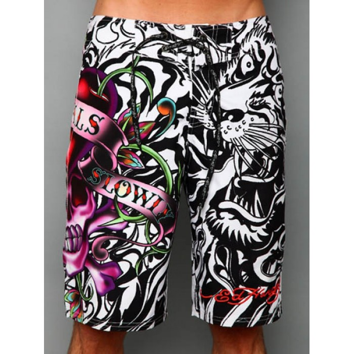 Ed Hardy Mens beach pants black Sale Online