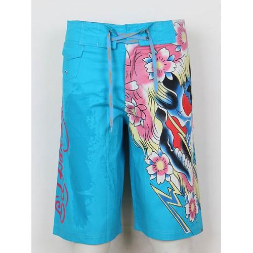 Ed Hardy Mens beach pants blue enjoy great discount