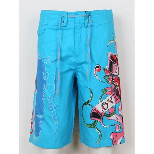 Ed Hardy Mens beach pants blue Online Shop