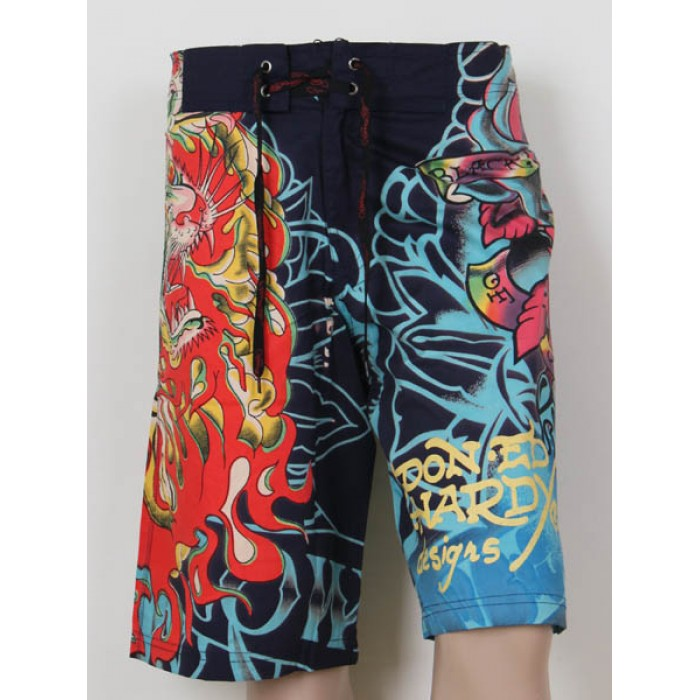 Ed Hardy Mens beach pants black Cheap Sale