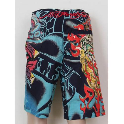 Ed Hardy Mens beach pants black Cheap Sale