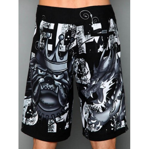Ed Hardy Mens beach pants black In Stock