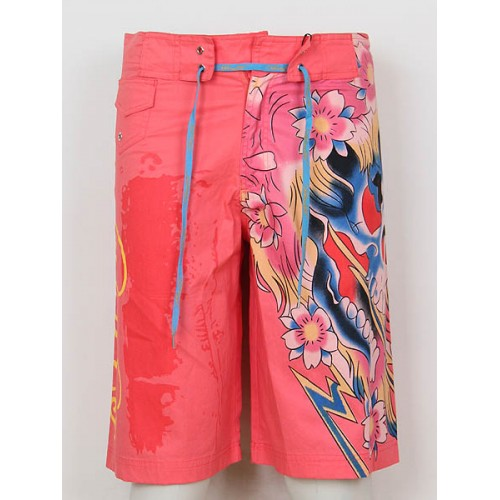 Ed Hardy Mens beach pants red retail prices