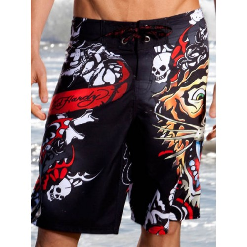 Ed Hardy Mens beach pants black new collection