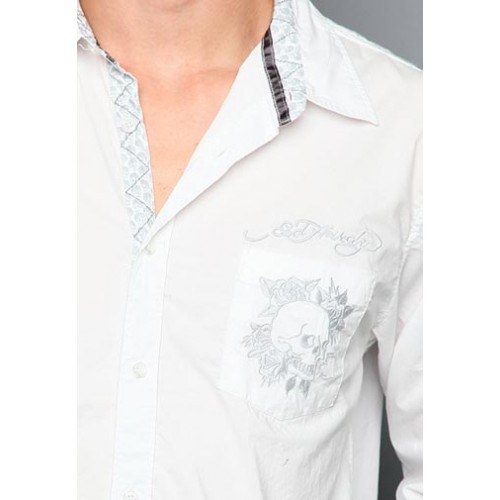 Ed Hardy Mens Tiger Basic Embroidered Polo