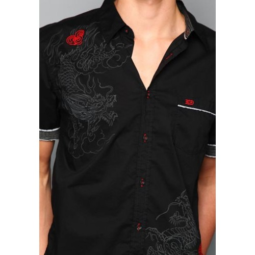 Ed Hardy Top Hat Skull Mens Basic Embroidered Polo
