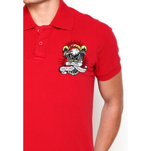 Ed Hardy True Til Death Basic Embroidered Mens Polo