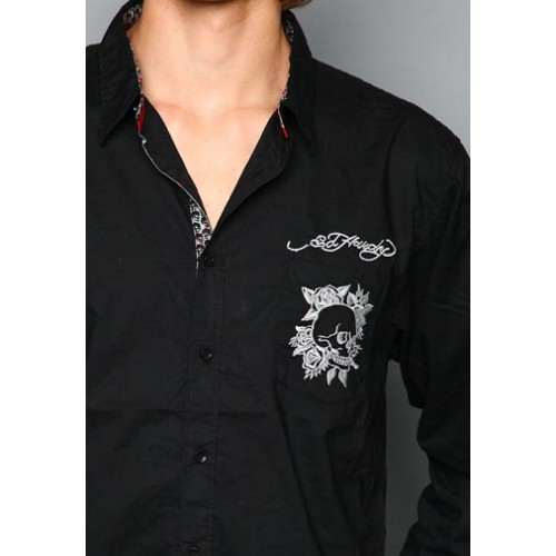 Ed Hardy Mens White Tiger Rope Embroidery 01