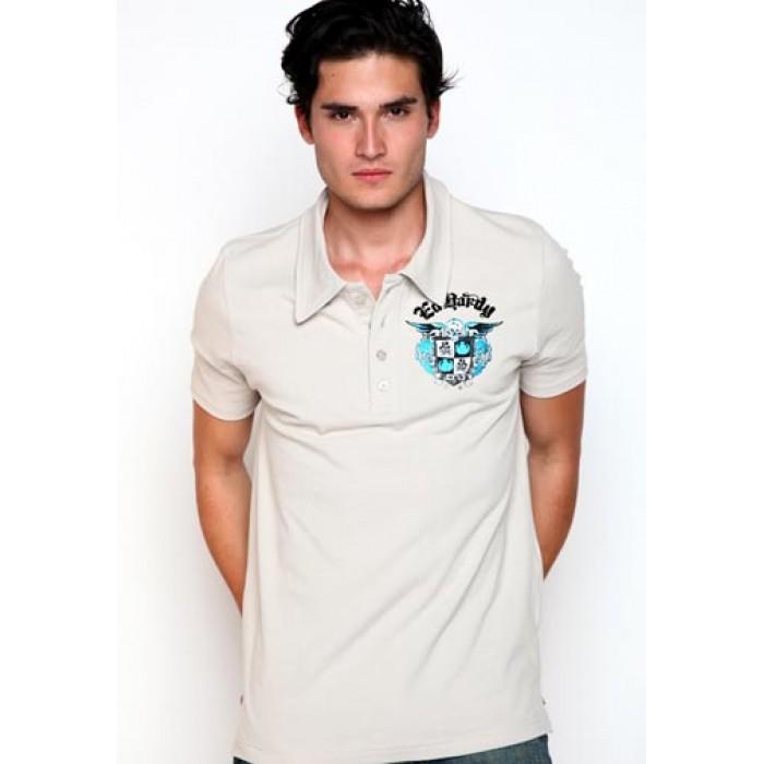 Ed Hardy Mens Born Free Basic Embroidered Polo