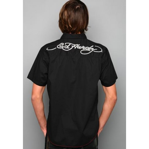 Ed Hardy Born Free Stoned Bandana Applique Mens Polo