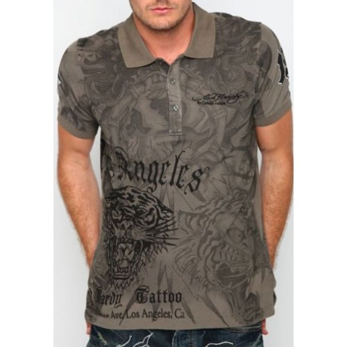 Ed Hardy Eagle Dagger Mens DBD Enzyme Washed Polo