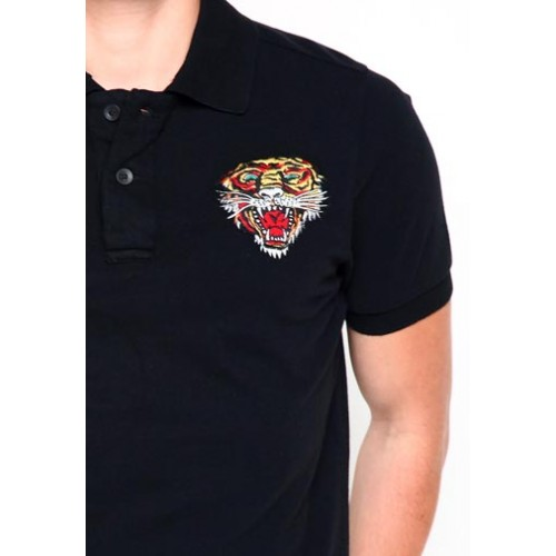 Ed Hardy Polo Mens Patched Utility Embroidery