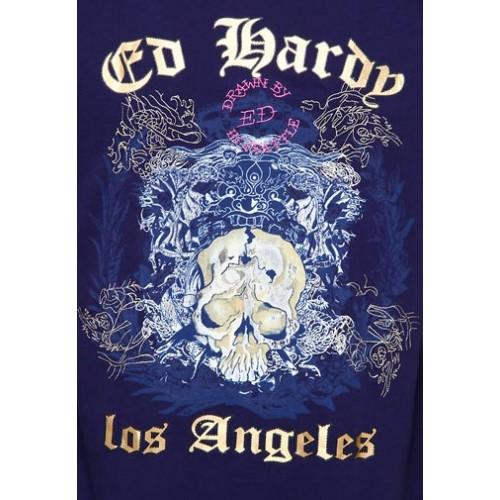 Ed Hardy Pierced Skull Basic Embroidered Mens Polo