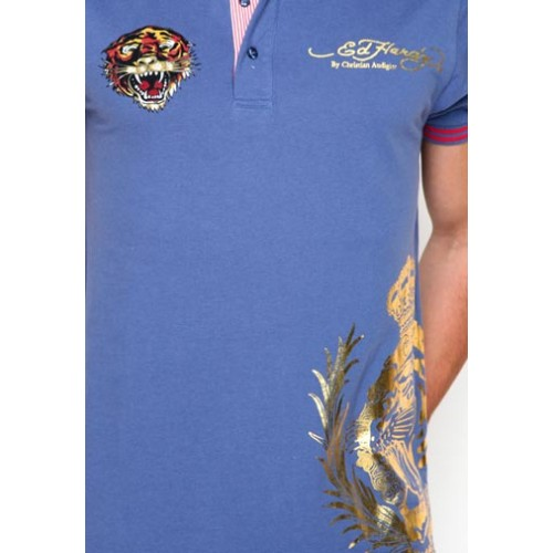 Ed Hardy Mens Surf Rats Enzyme Washed Polo