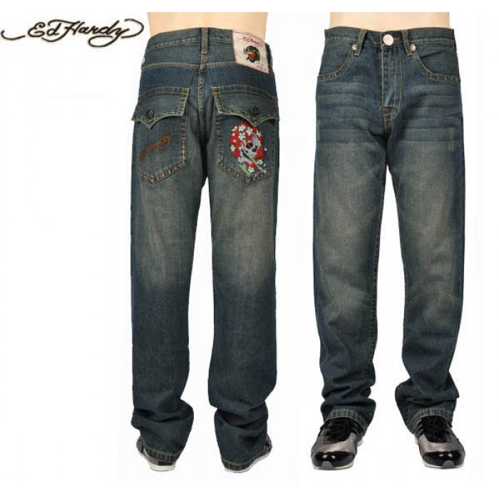 Ed Hardy Mens Jeans 0022 Sale USA Online