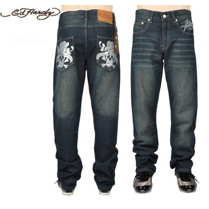 Ed Hardy Mens Jeans 0075 official online website
