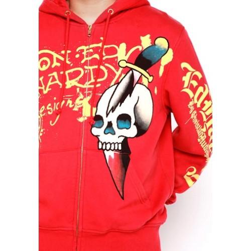 Ed Hardy Mens Skull Dagger Basic Hoody