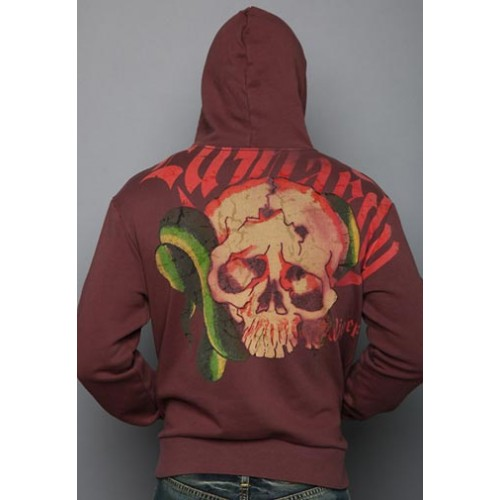 Ed Hardy Mens Snake Wings Vintage Wash Hoody