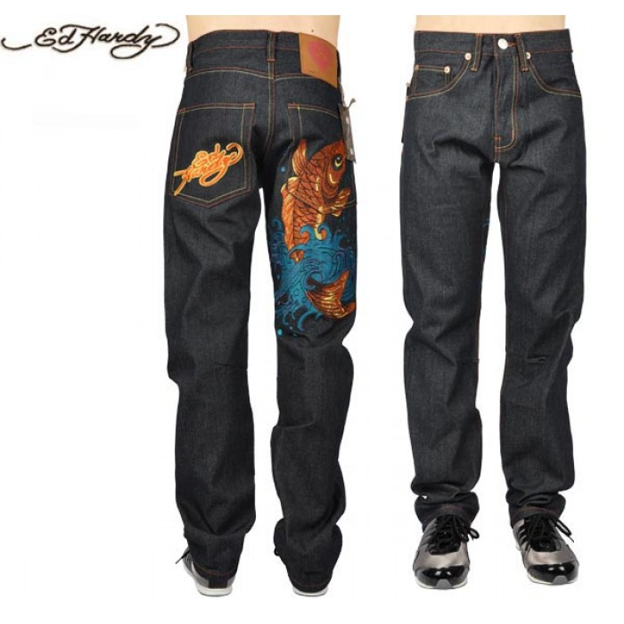 Ed Hardy Mens Jeans 0624 UK Factory Outlet