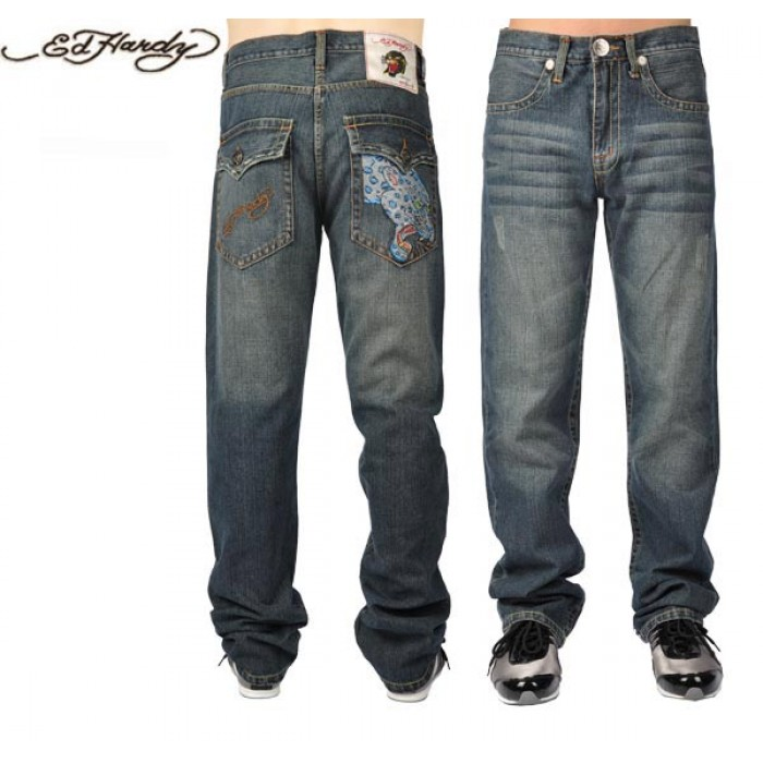 Ed Hardy Mens Jeans 0103 Free and Fast Shipping